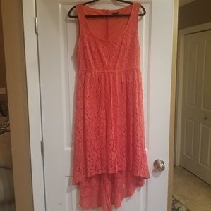 💕💕👗👗 Torrid size 14 high low coral lace dress